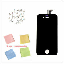 Touch Screen+ Digitizer LCD Display Black Assembly For iPhone 4G + Screws GSM