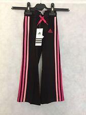 Ragazze Adidas LG ESS Jazz Pantalone G74765 BASSO MISURA UK 2-3 anni NERO #4929