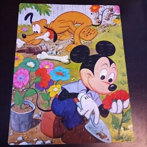 Vintage Whitman #4649 100 Large Piece Puzzle Of Mickey Mouse And Pluto Complete