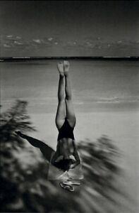 1982 Jeanloup Sieff Yoga Headstand At The Beach Ocean 1981 Art Photo