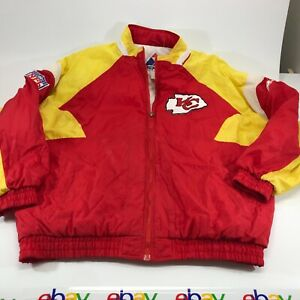 Apex One Kansas City Chiefs Red Yellow Full Zip Jacket Size XL