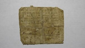 1760 Five Shillings North Carolina NC Colonial Currency Note Bill! 5s! July 14!