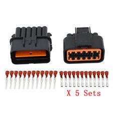5 Sets 12Pin Automotive Harness Waterproof Connector Car Plug DJ71210Y-2.2-11/21