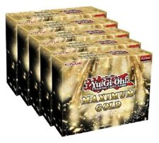 Yugioh Maximum Gold Factory Sealed Display Box 5 Mini Boxes IN HAND Ships TODAY!