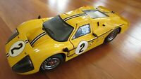 Exoto 1967 Ford GT 40 MK 4 race car #2 1:18 Donohue McLaren LeMan livery VG