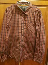 5.11 Tactical Plaid Long Sleeve Snap Concealed Carry Draw Shirt XL Red E.U.C