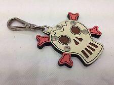 Auth Prada Leather Skull Keychain Keyring Trick 6D190670
