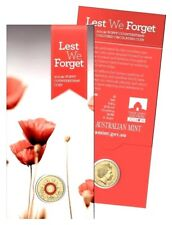 2015 Poppy Counter Stamped Remembrance Coloured $2 Two Dollar Australian Coin*