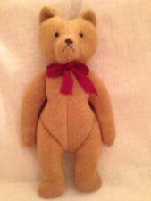 "10.5"" Brown Tan Teddy Bear Stuffed Animal Stiff Hand Crafted"