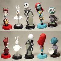 6pcs Set The Nightmare Before Christmas Jack Sally BobbleHead Figure Doll Toys