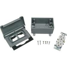 Red Dot Weatherproof Electrical Box Outdoor Outlet Kit