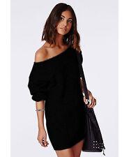 Damen Pullover LongPulli  Strick Tunika Sweater Kleid Langarm Bluse L/XL 614