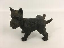 Vintage Hierro Fundido Pesado Negro levantado pierna orinar escocés Perro Puerta Parada