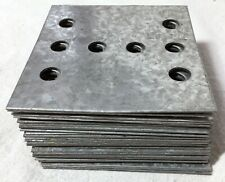 "Lot of 27 Zinc/Steel 8-Hole Mending/Nail/Boca Plates, 3 11/16"" x 3 5/8"""