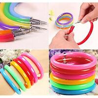 5pcs/lot Flexible Ball Pen Plastic Bangle Ballpoint Pens School Office Supplies