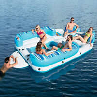 NEW MEGA HUGE GIANT INFLATABLE BAHAMA WAVE 6 PERSON ISLAND LAKE RIVER RAFT BOAT