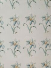 Ceramic decals light blue lily
