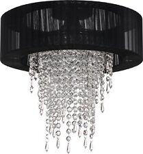 Luxus Kronleuchter Deckenlampe Hängeleuchte Lüster Schwarz Edel Kristall (Acryl)