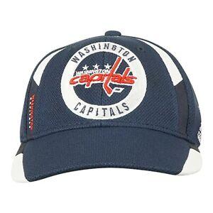 Washington Capitals NHL adidas Unisex Navy Blue Practice Jersey Hook Hat