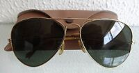 Vintage signed Baush & Lomb B&L made USA Ray Ban AVIATOR Sunglasses FRAME & CASE