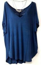 Forever 21 teal blue women's plus size v-neckline spandex stretch top 3X