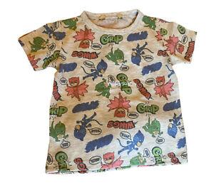 NEW ex George PJ MASKS Short Sleeve T-Shirt Top Owlette Gekko Catboy summer kids
