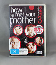 HOW I MET YOUR MOTHER: SEASON 3 (DVD, 2009, 3-DISC SET) IN EXCELLENT CONDITION