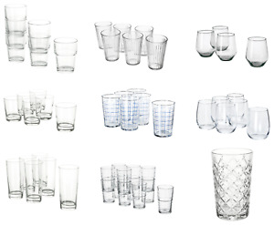 IKEA Drinking Glasses Clear Dessert Cups Trifle Liquor Drink Multi-Use 4-12 Pack