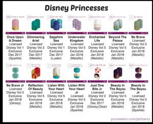Disney Princesses Jamberry Nail Wraps - Half Sheets