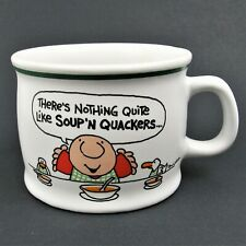 "Vtg Tom Wilson's Ziggy 1982 ""There's Nothing Quite Like Soup 'N Quacker"" Cup Mug"