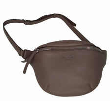 Kate Spade Jackson Belt Bag Fanny Pack Leather Purse Sling Brown Stone