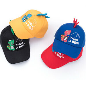 Toddler Boys Girl Kids Snapback Baseball Cap Cute Dinosaur Outdoor Visor Sun Hat