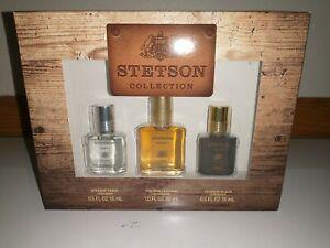 COTY Stetson Collection Gift Set Fresh & Black .5 oz Original 1 oz Mens Cologne
