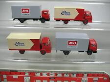 af226-0, 5 #4x Wiking H0 Truck Mercedes-Benz MB: Avis Car Rental +CONFERN,MINT