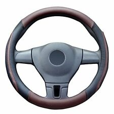 38cm Leather Car SUV Car Steering Wheel Cover Microfiber Non-slip Breathable US