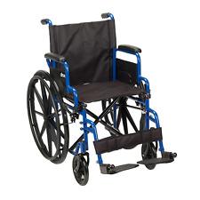 Drive Medical Blue Streak Wheelchair with Flip Back Desk Arms, Swing Away Footre