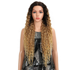 """32"""""""" Kinky Curly Glueless High Temperature Fiber Hair Lace Front Wig"""