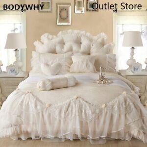 Cotton Bedlinen Wedding Bedding Sets Jacquard  Duvet Cover Pillowcase Bedspread