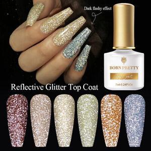 BORN PRETTY Reflective Glitter Top Coat Gel Soak Off Nagel Top Coat Nagellack