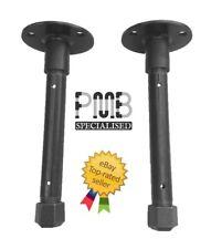 "Steel pipe Shelve Brackets X2 8"" | Industrial Design | Handmade in the UK"