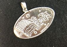 Rare One Of A Kind Sterling Silver Six Flags collector  3.5 grams.