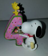 Snoopy Peanuts Charlie Brown Westland Giftware 8194 Number 4 Birthday Figurine