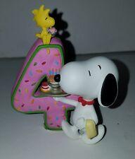 Snoopy Peanuts Charlie Brown Westland Giftware 8194 Number 4 Birthday Figurine