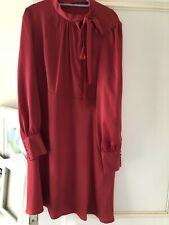 Marks And Spencers Red  Dress New Size 14