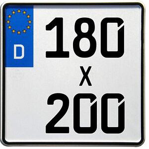 Neue kleine Motorrad EU Kennzeichen 180 x 200mm (Optional mit Saison)