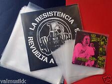 "100 Fundas Para Discos De Vinilo  LP 12"" Maxi + 100 Para 7"" Single EP Galga 400"