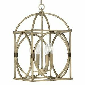 Capital Lighting 4521FO Foyer Collection 4 Light Full Sized Cage Pendant