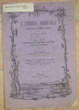L'UMBRIA AGRICOLA 15 OTTOBRE 1885 COLOMBI MILANO MILAN PIEGEONS VINO ENOLOGIA