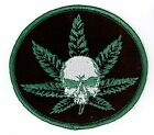 Rollin Low Umm Skull Pot Leaf Premium Quality Embroidery 3.5x3 Embroidered PATCH