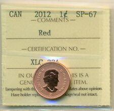 2012 Canada Small Cent Specimen Finish, ICCS SP-67